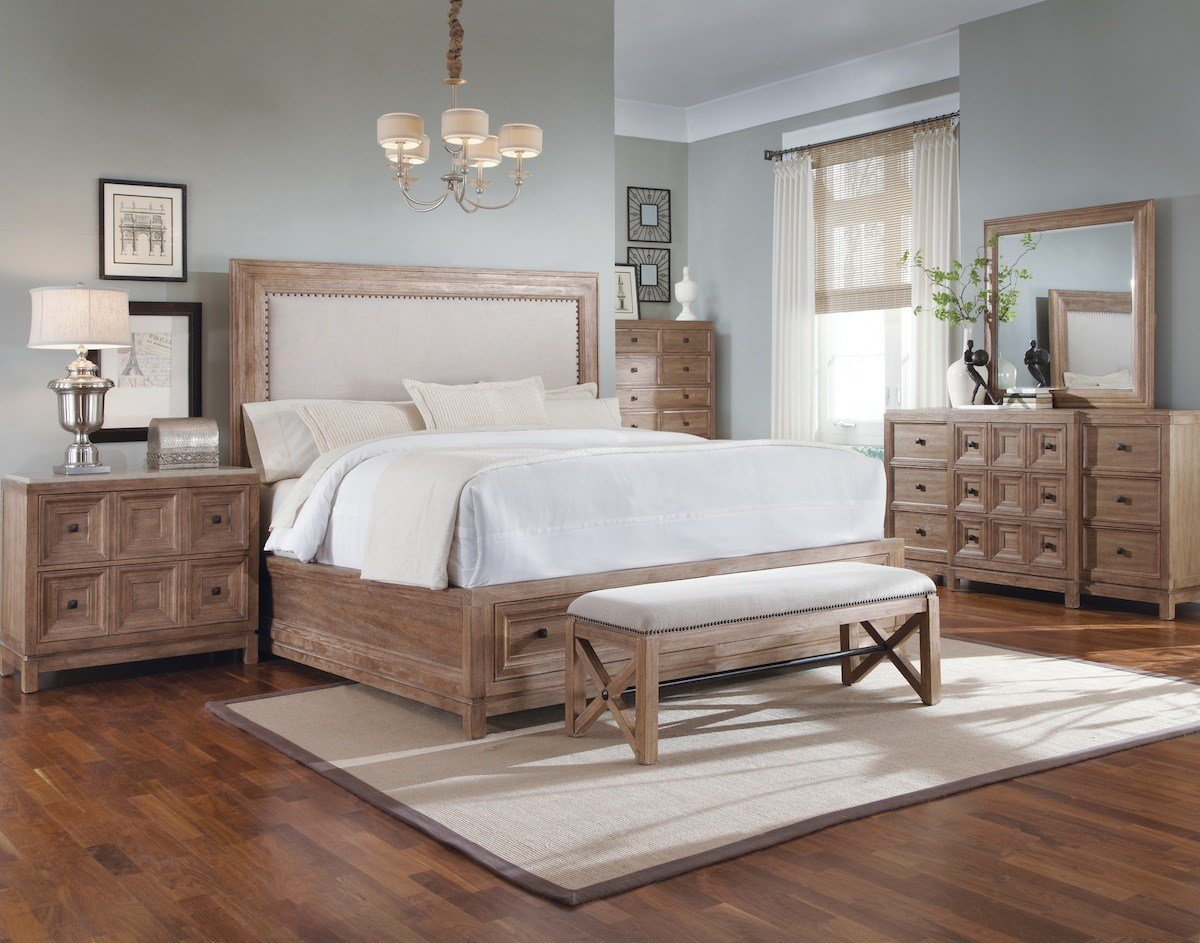 Best Ventura Rustic Contemporary Bedroom Furniture Set 192000 With Pictures