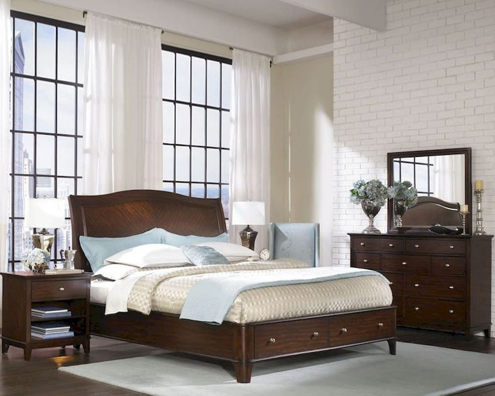 Best Aspenhome Sleigh Storage Bedroom Lincoln Park Asi82 400Stset With Pictures