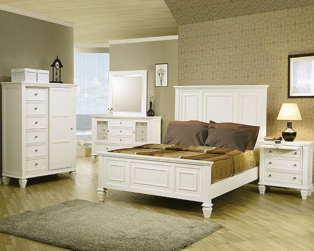 Best Coaster Sandy Beach Bedroom Set In White Co 201301 Set With Pictures
