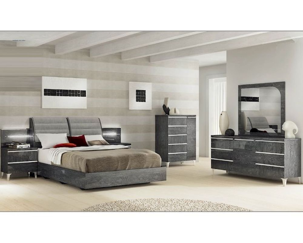 Best Modern Italian Bedroom Set Elite 3313Ei With Pictures
