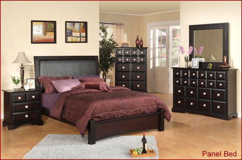 Best Najarian Furniture Palazzo Bedroom Set In Ebony Finish Na With Pictures