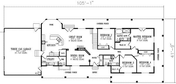 Best 4 Bedroom House Floor Plans 4 Bedroom Ranch House Floor With Pictures