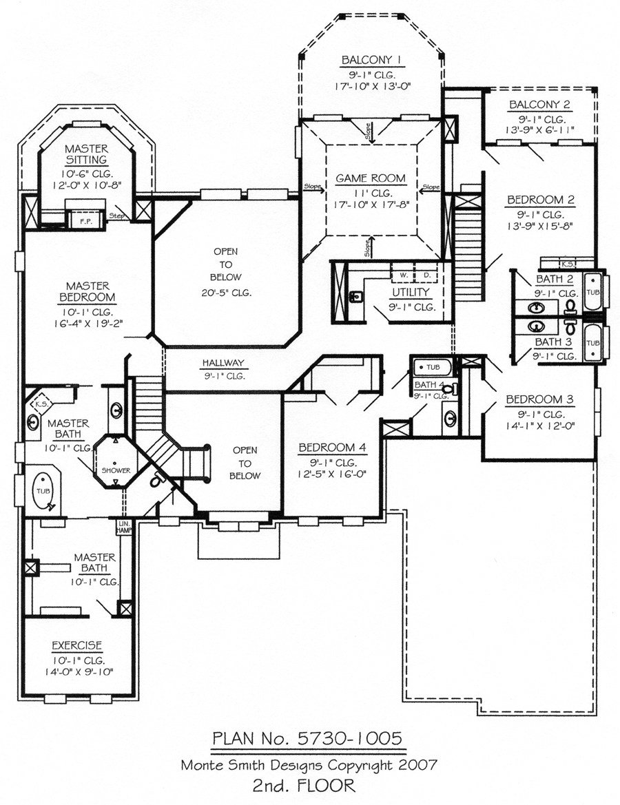 Best Master Bedroom Two Story Deck 5 Bedroom 2 Story House Plans 2 Story 5 Bedroom Floor Plans With Pictures