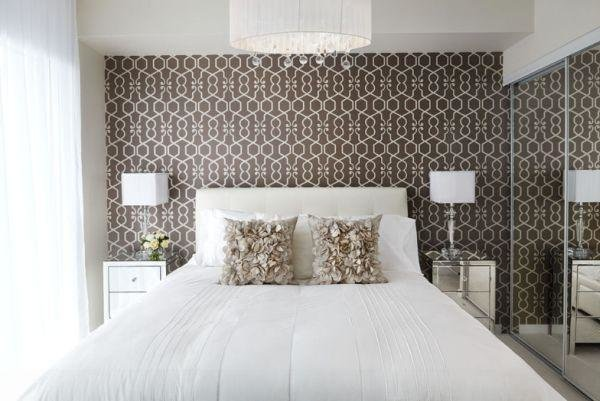 Best Bedroom Wallpaper Feature Wall 24 Decoration Inspiration With Pictures