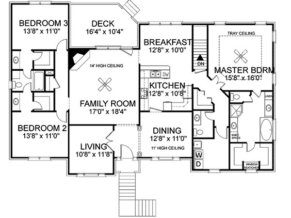 Best Freeman Split Level Home Plan 013D 0092 House Plans And More With Pictures