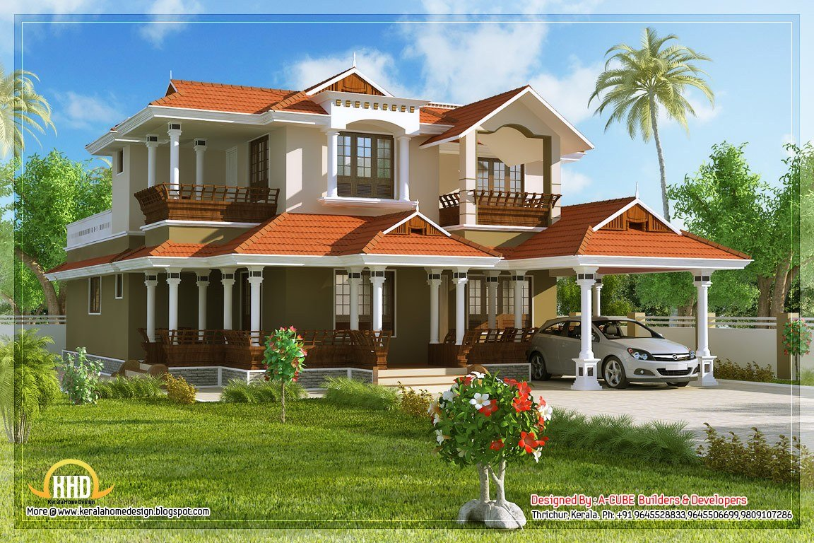 Best Indian Style Two Story House Plans With Pictures