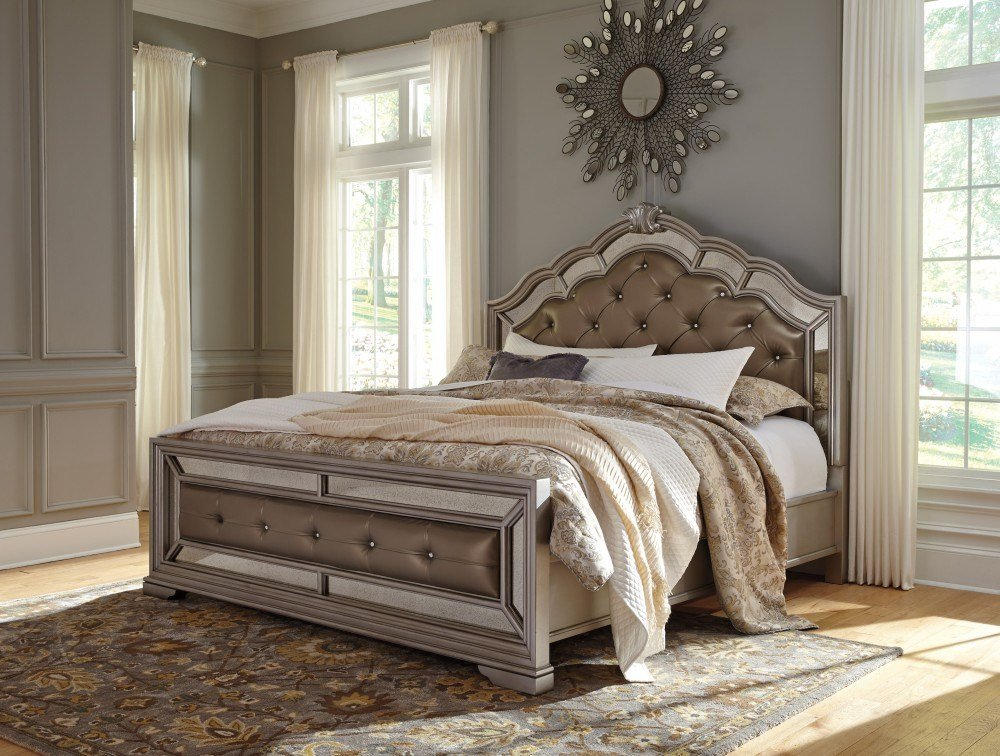Best Birlanny Queen Uph Bed B720 57 54 96 Complete Bed Sets Price Busters Furniture With Pictures