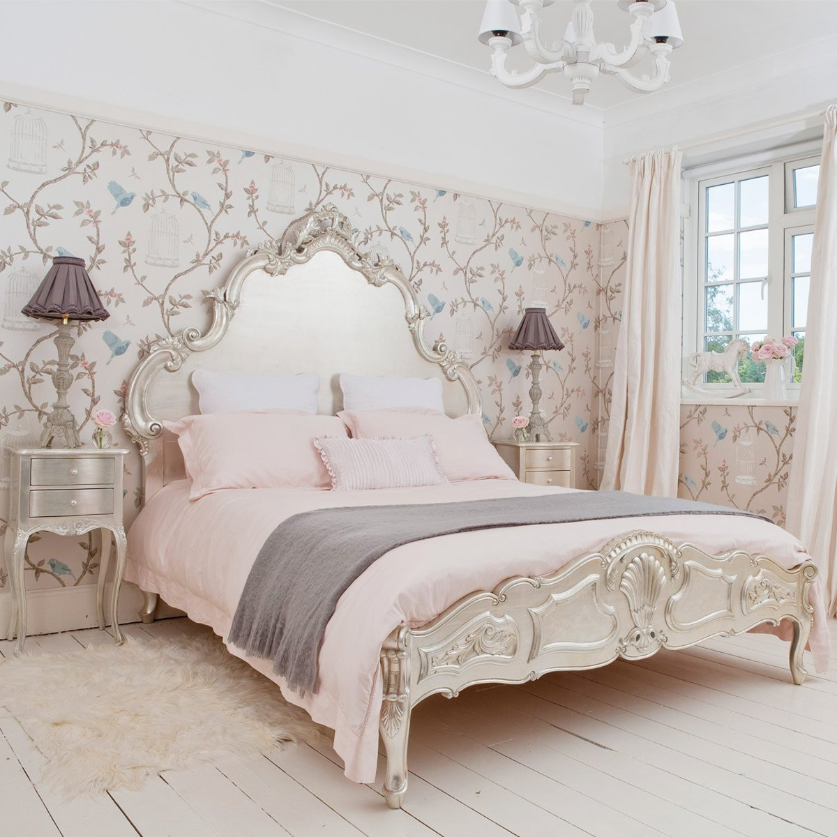 Best Sylvia Silver Leaf French Bed French Bedroom Company With Pictures
