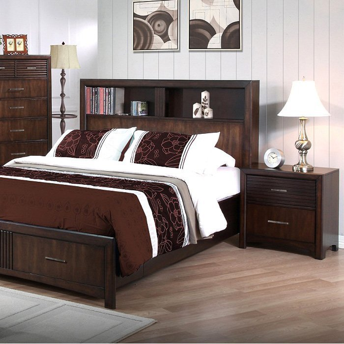 Best Edison 5 Piece Bedroom Set Storage Bed Java Oak King With Pictures