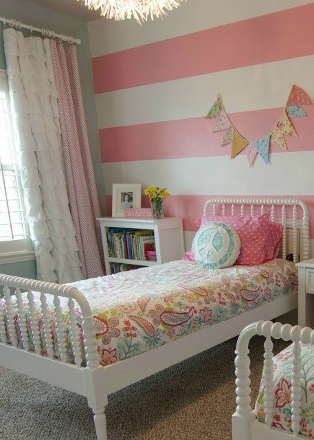 Best Pink Striped Girls Room Design Dazzle With Pictures