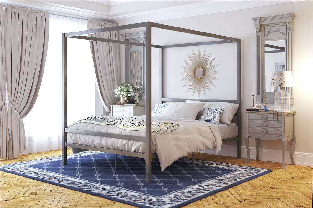 Best Dhp Furniture Modern Canopy Metal Bed With Pictures
