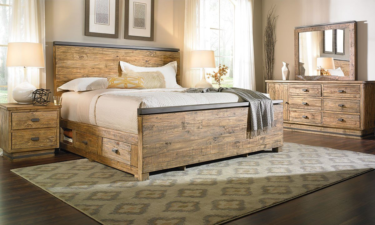 Best Haynes Furniture American Way Solid Pine Queen Storage With Pictures