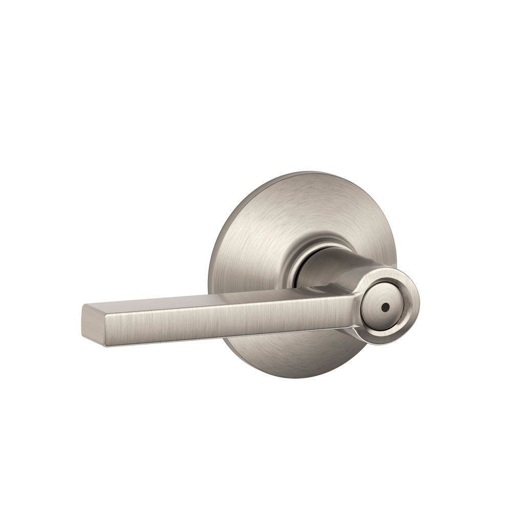 Best Schlage Latitude Satin Nickel Bed And Bath Lever F40 Lat With Pictures