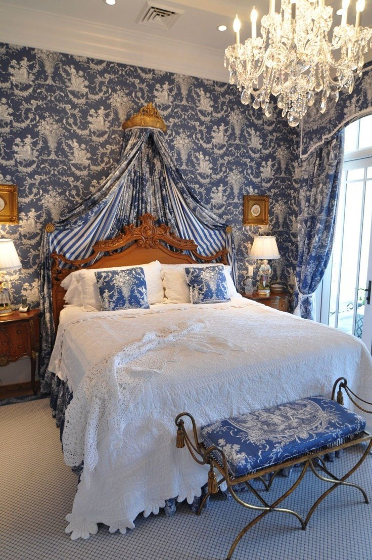 Best Furniture Pillows Bedroom Blue Toile Source Perrierr Designs With Pictures