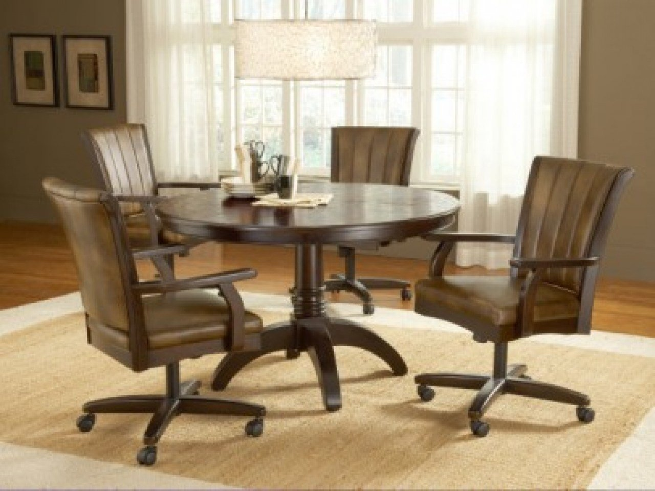 Best Dining Room Chairs With Casters Swivel With Pictures