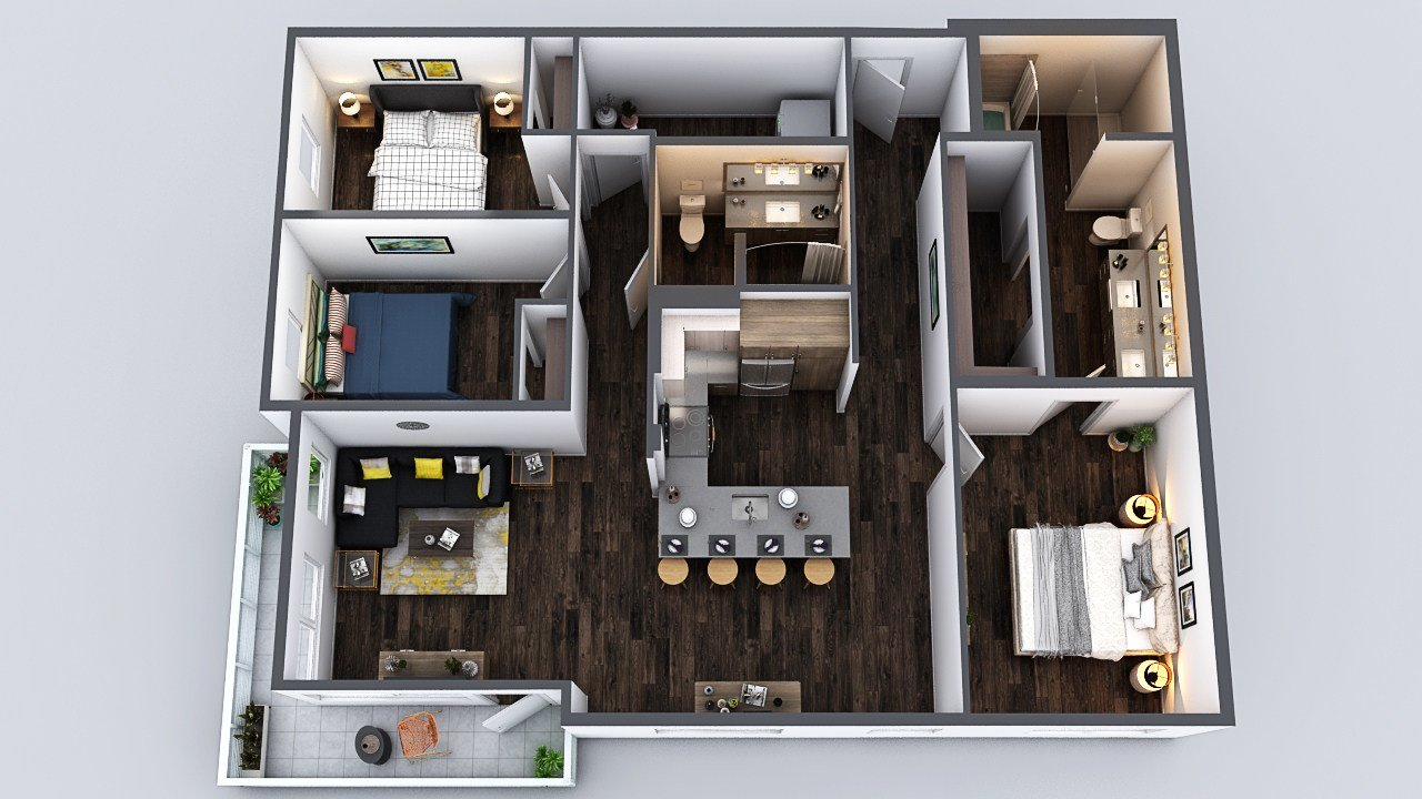 Best Seattle 3 Bedroom Apartments At One Lakefront South Lake Union With Pictures