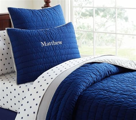 Best Branson Comforter Navy Grey Pottery Barn Kids Au With Pictures