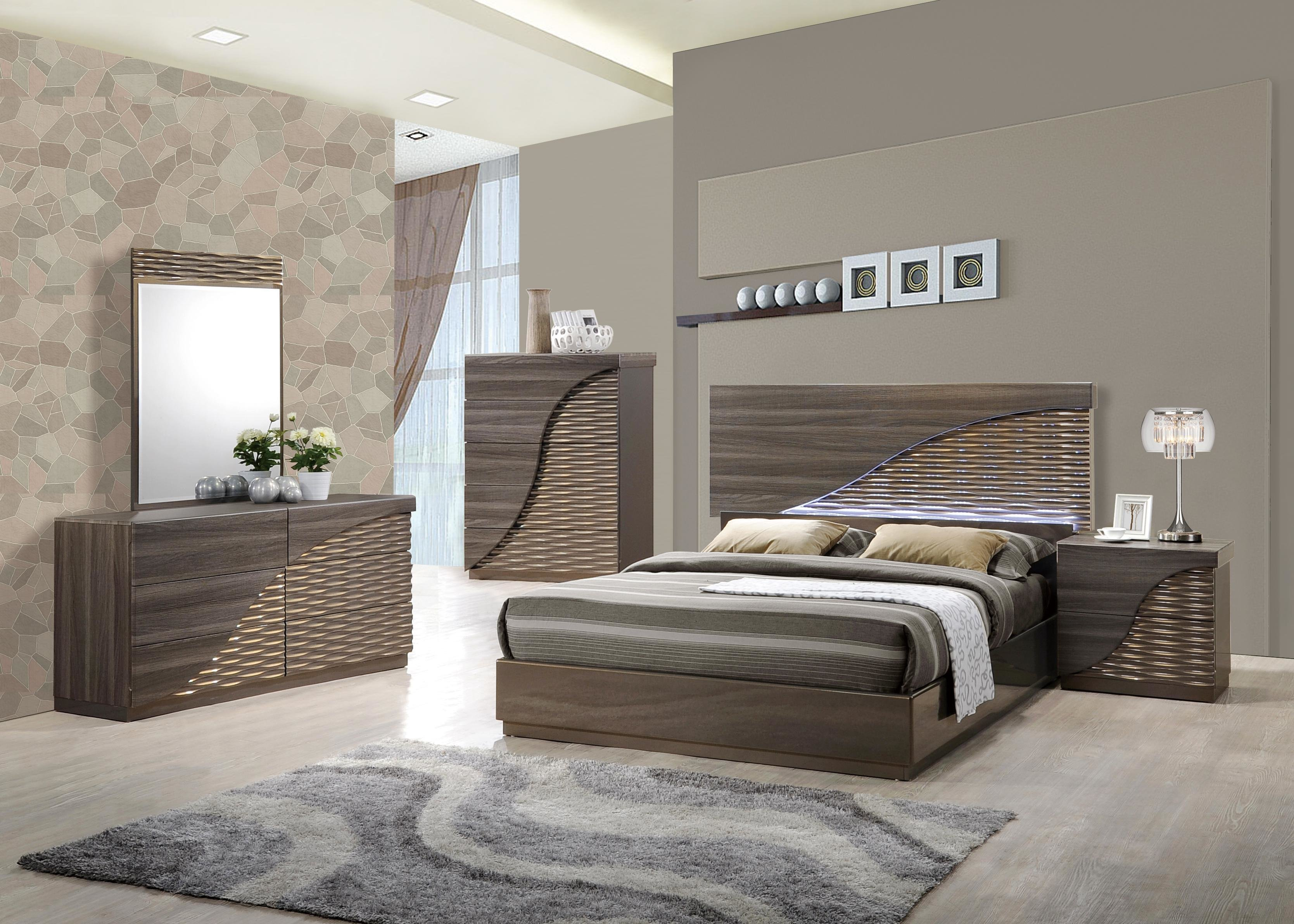 Best Contemporary Gold Zebra Led Bedroom Set Houston Texas With Pictures