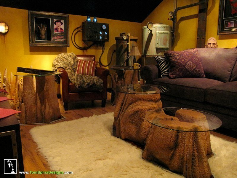 Best Custom Man Cave Horror Themed Home Theater Movie Prop With Pictures