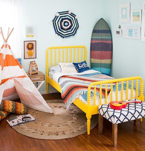 Best Liam S Nautical Surf Themed Bedroom Nursery Kids Room With Pictures