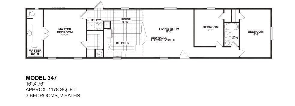 Best Awesome 16 Wide Mobile Home Floor Plans New Home Plans With Pictures
