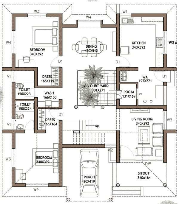 Best Elegant Kerala Model 3 Bedroom House Plans New Home With Pictures