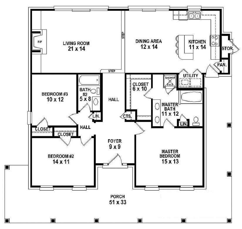 Best Luxury One Story House Plans With 3 Bedrooms New Home Plans Design With Pictures