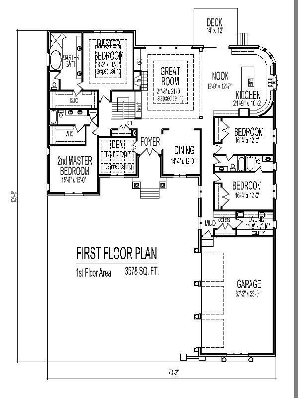 Best Exceptional 4 Bedroom House Plans One Story With Basement New Home Plans Design With Pictures