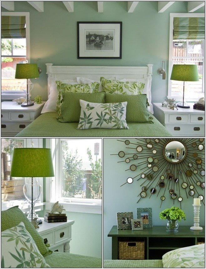 Best Serene Green Bedrooms With Pictures