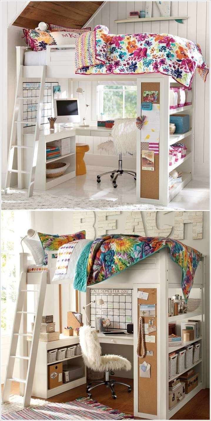 Best 10 Clever Solutions For Small Space T**N Bedrooms With Pictures