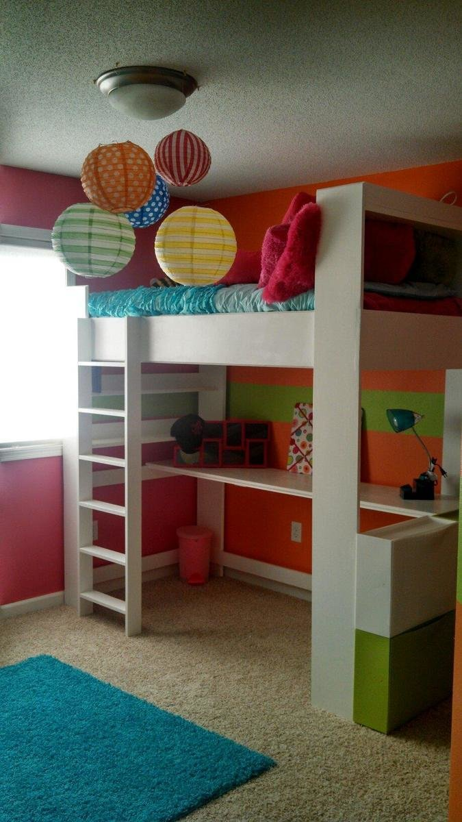Best Ana White My Daughters Loft Bed And Room Diy Projects With Pictures