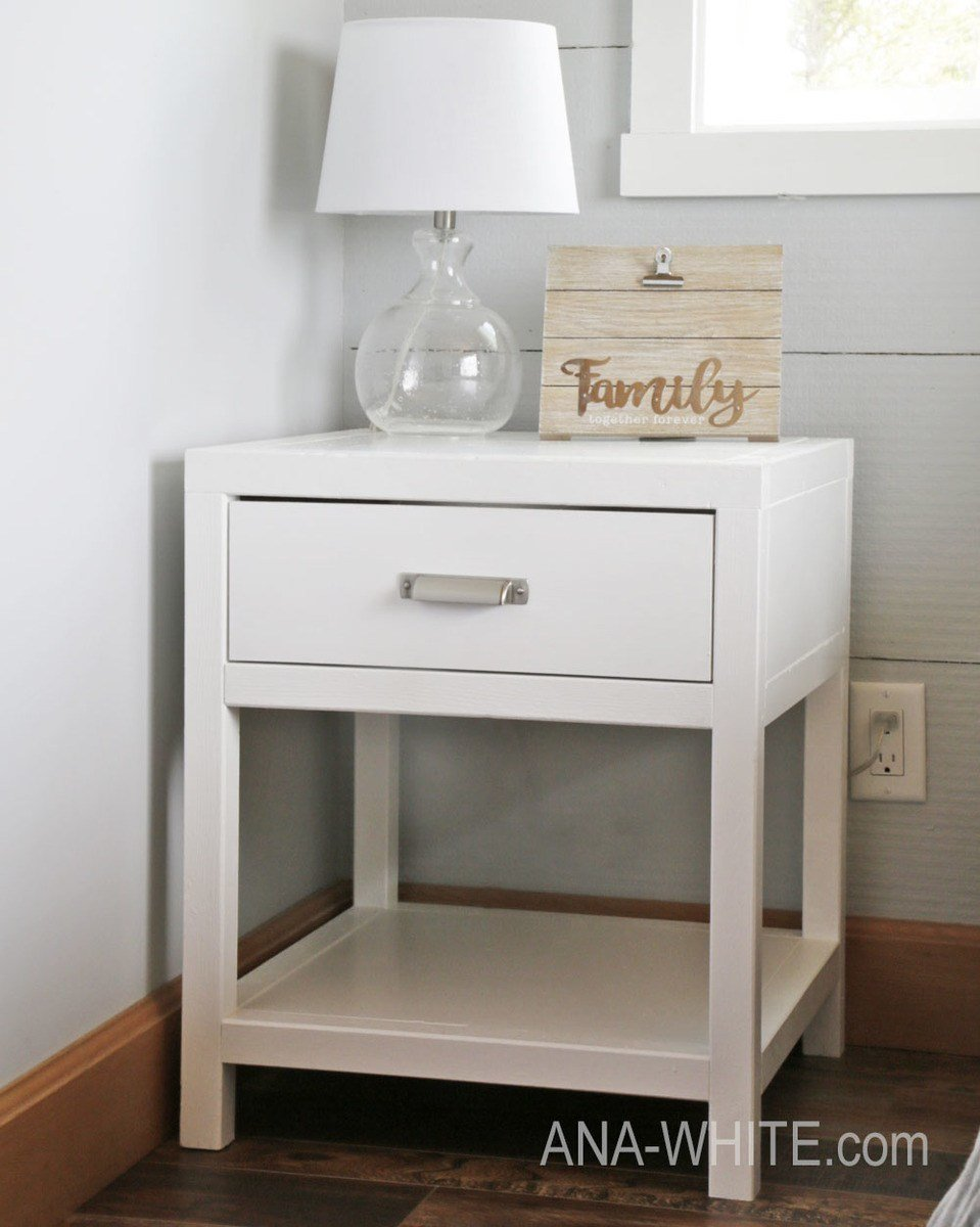 Best Ana White Simple Modern Bedside Table Diy Projects With Pictures