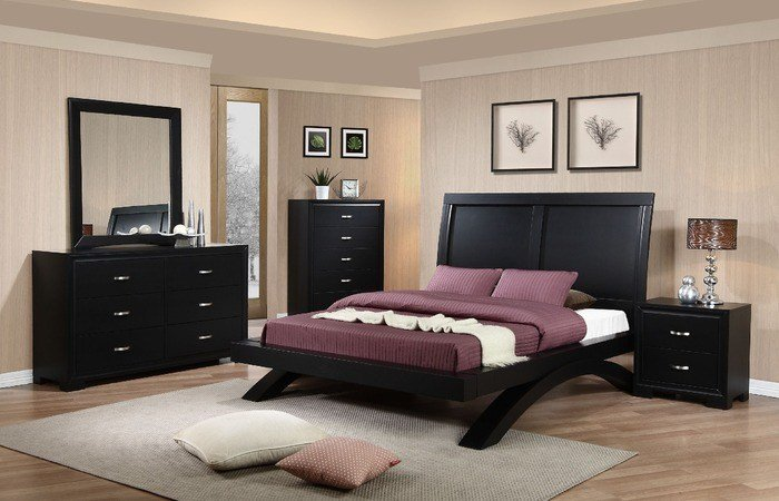 Best Raven Bedroom Set Dark Cherry Finish Rvqb Decor South With Pictures