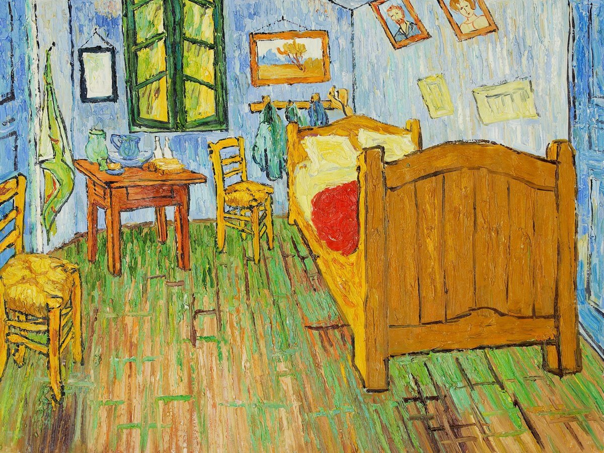 Best Replica Of Van Gogh S Bedroom As Accommodation In Chicago With Pictures