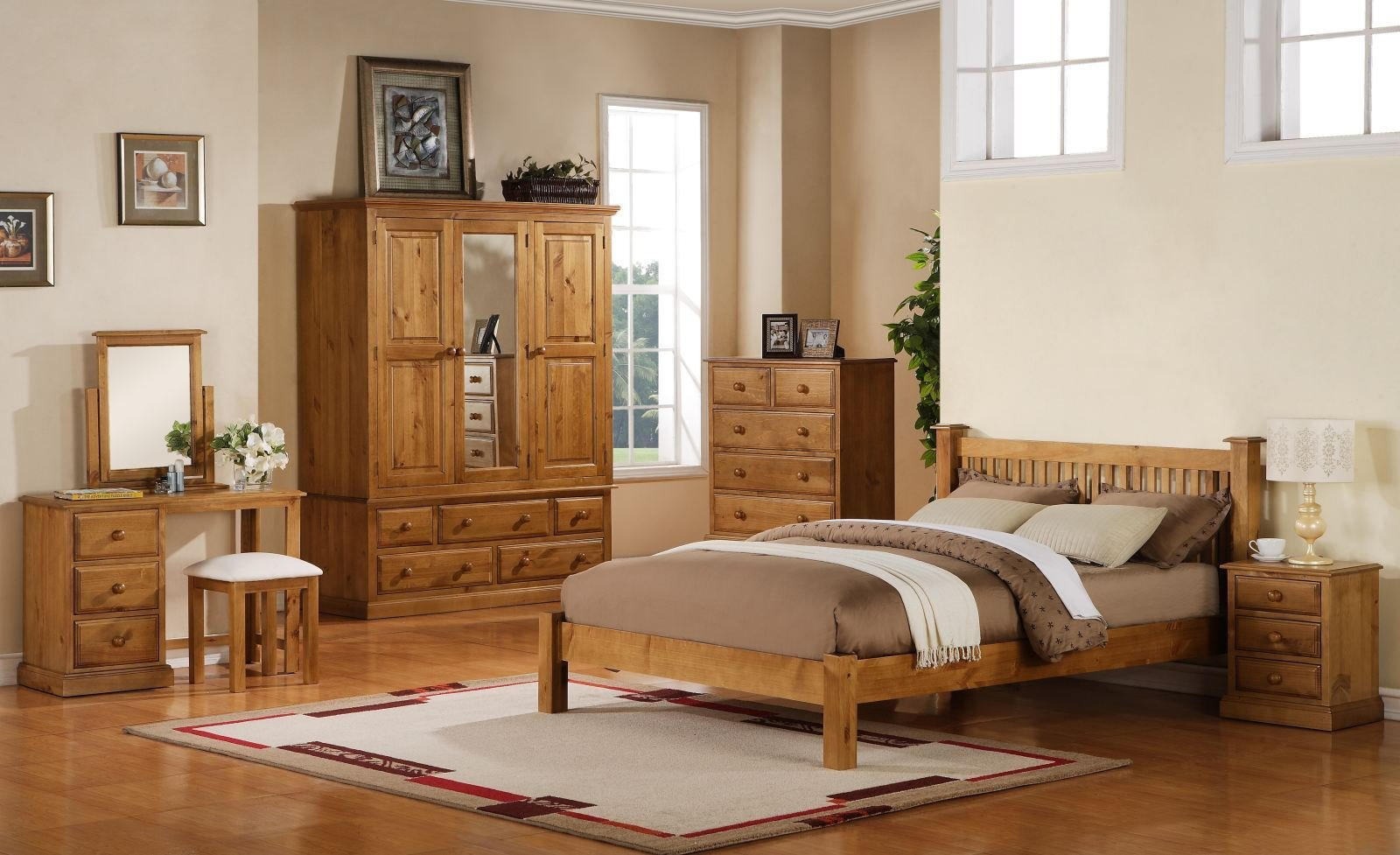 Best Primrose Solid Chunky Pine Bedroom Furniture Small With Pictures