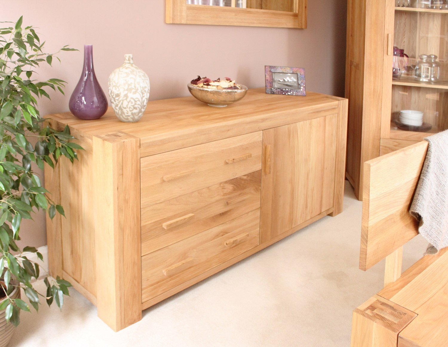 Best Palma Solid Chunky Oak Furniture Living Dining Room Storage Sideboard With Pictures Original 1024 x 768