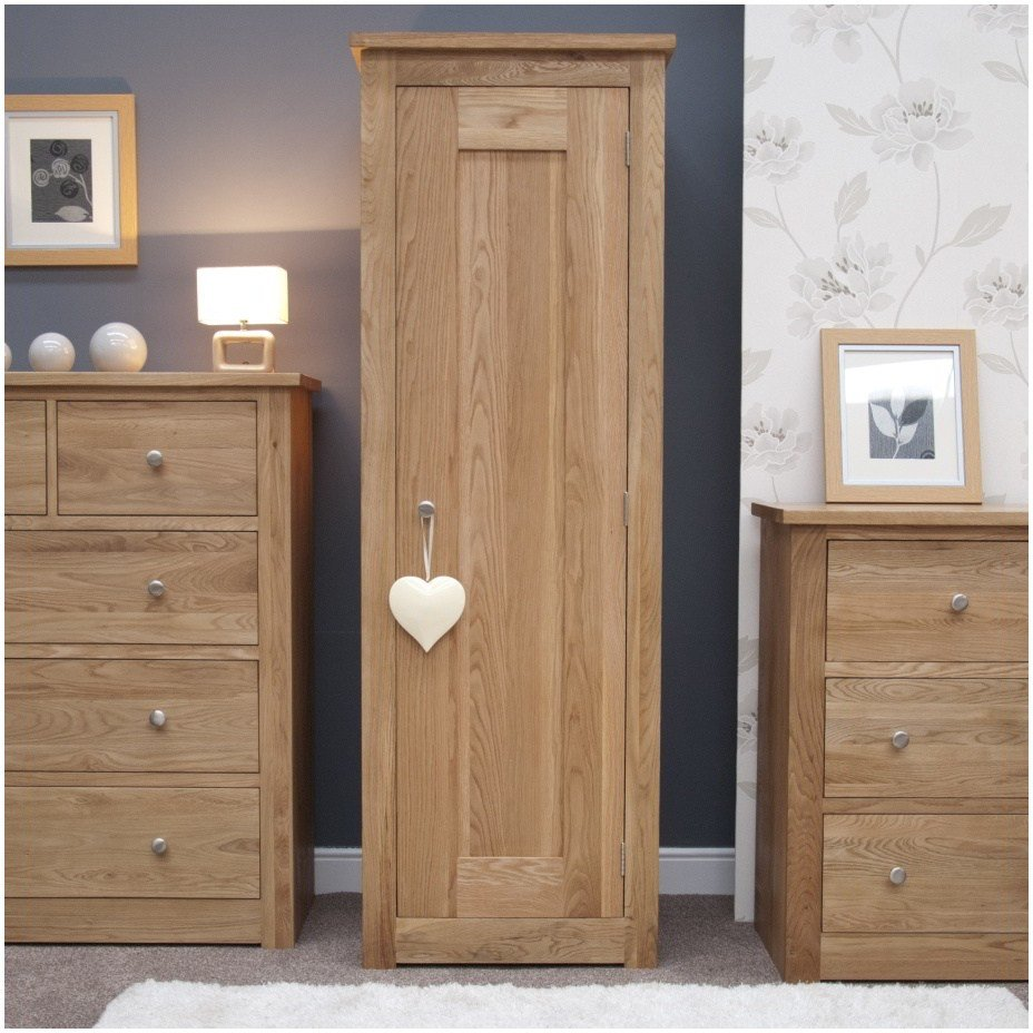 Best Kingston Solid Modern Contemporary Oak Bedroom Furniture Single Wardrobe Ebay With Pictures