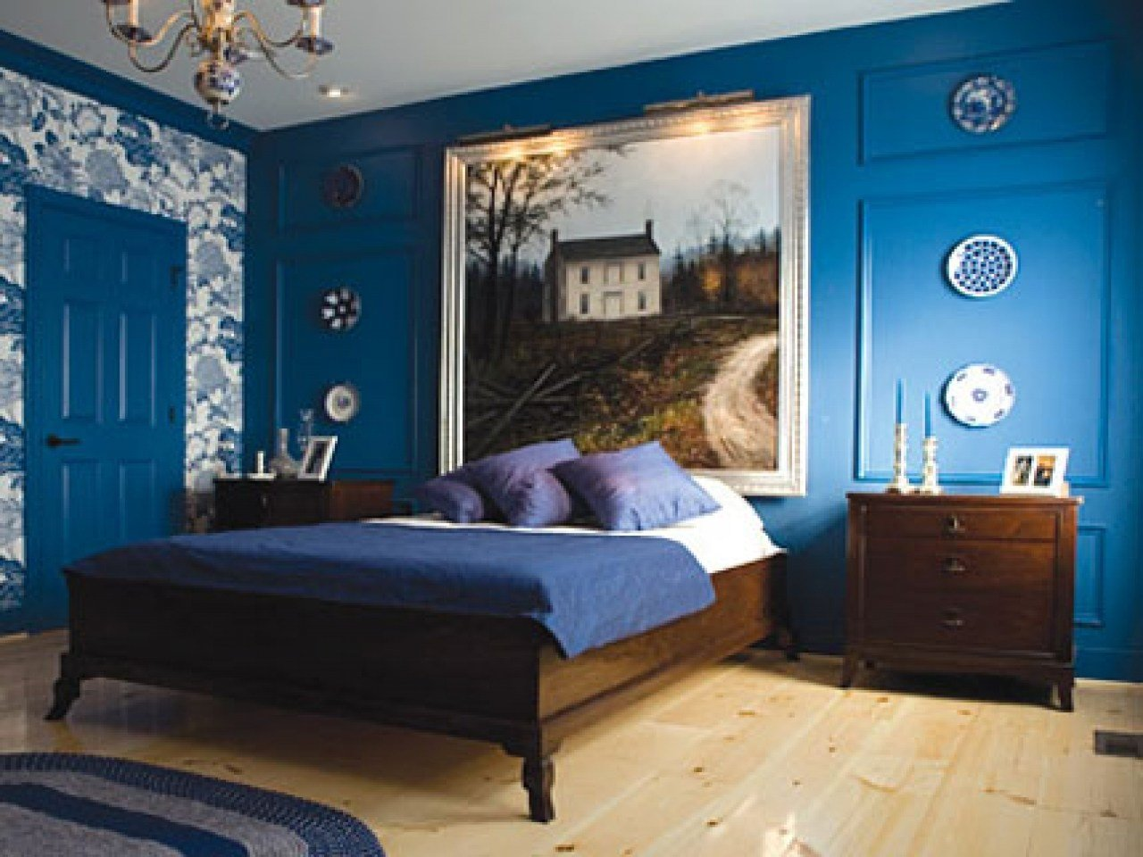 Best Blue For Bedroom Walls Black Bedroom Furniture Decorating With Pictures