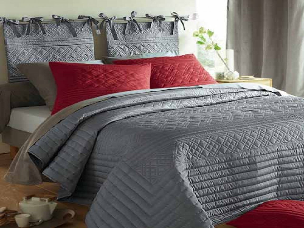 Best Creating A Romantic Bedroom Grey And Yellow Bedding Red With Pictures