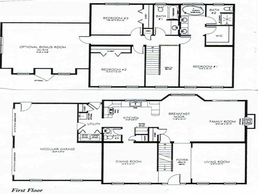 Best 2 Story 3 Bedroom House Plans Small Two Story House Plan With Pictures