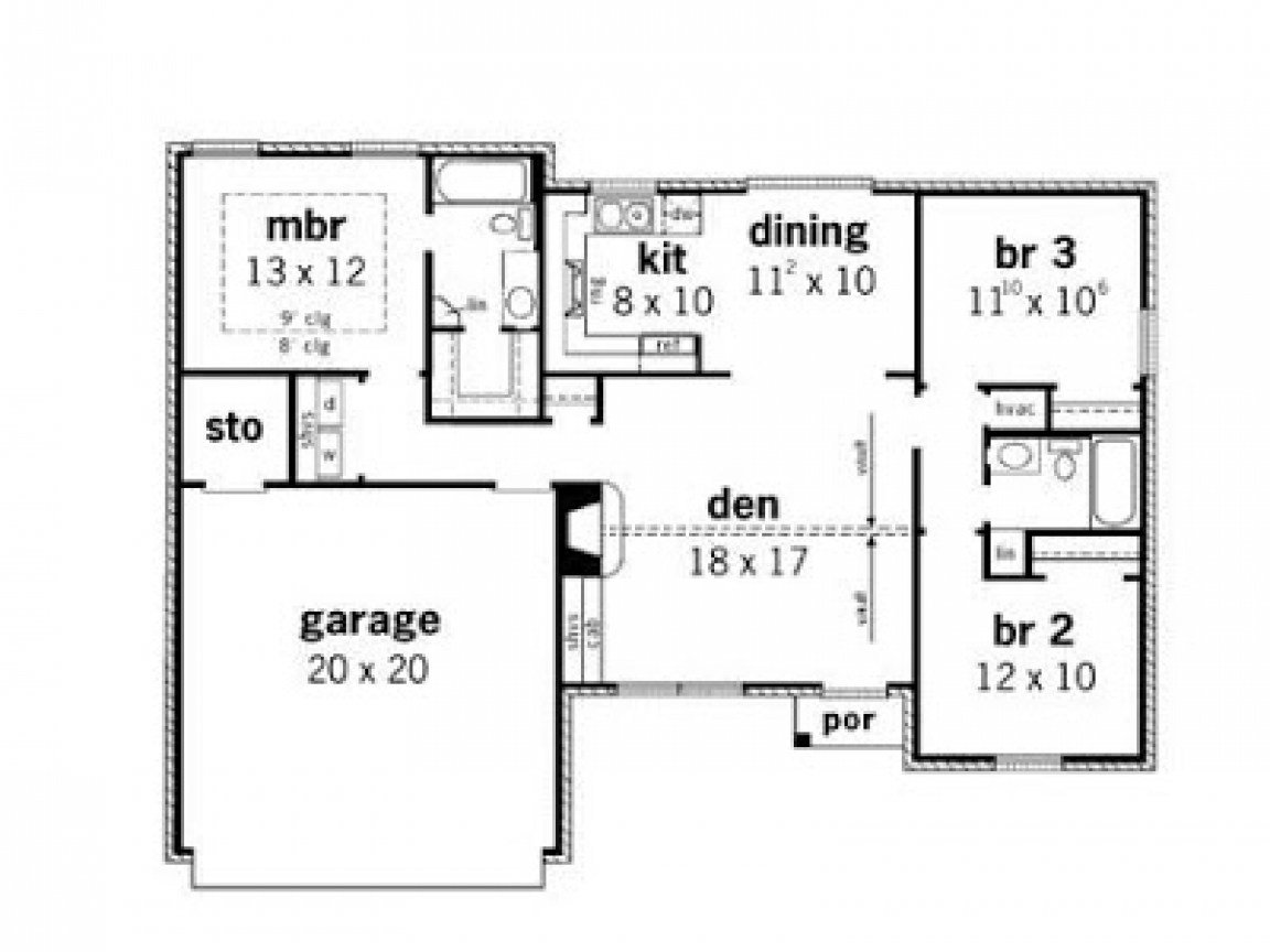 Best Simple Small House Floor Plans 3 Bedroom Simple Small With Pictures
