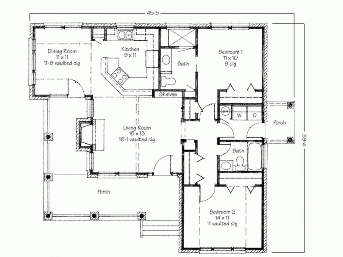 Best Two Bedroom House Simple Floor Plans House Plans 2 Bedroom With Pictures