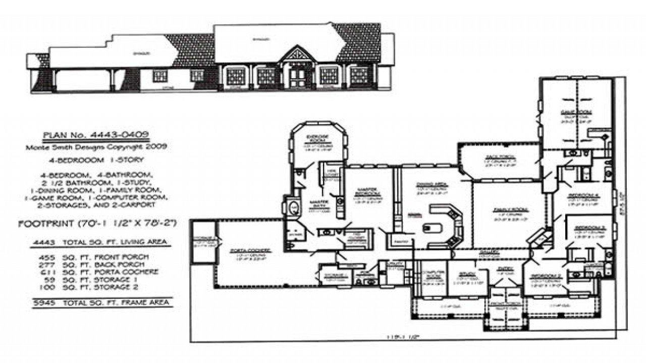 Best 5 Bedroom 4 Bedroom One Story House Plans House Plans 1 With Pictures