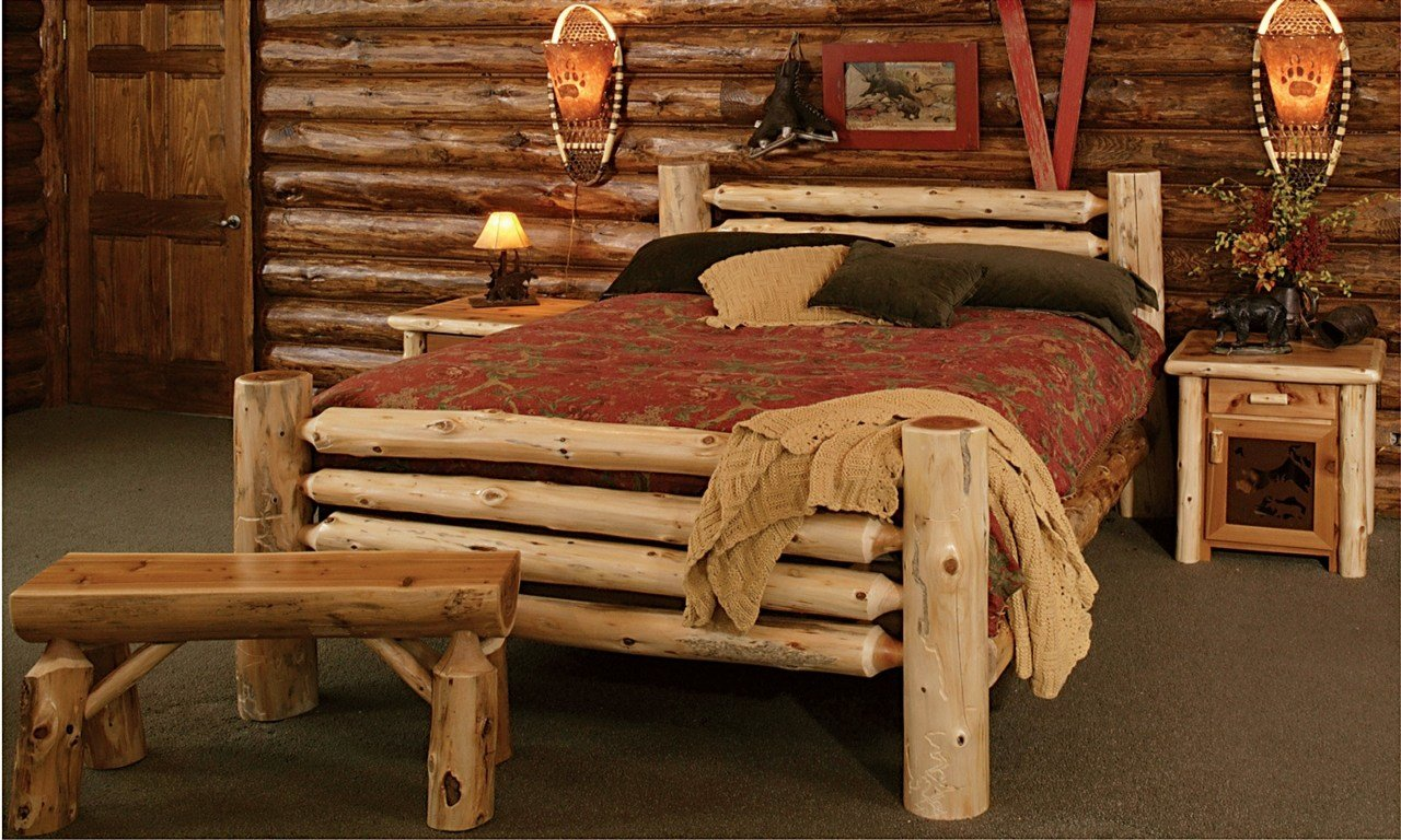 Best Rustic Style Bedroom Furniture Rustic Log Bedroom With Pictures