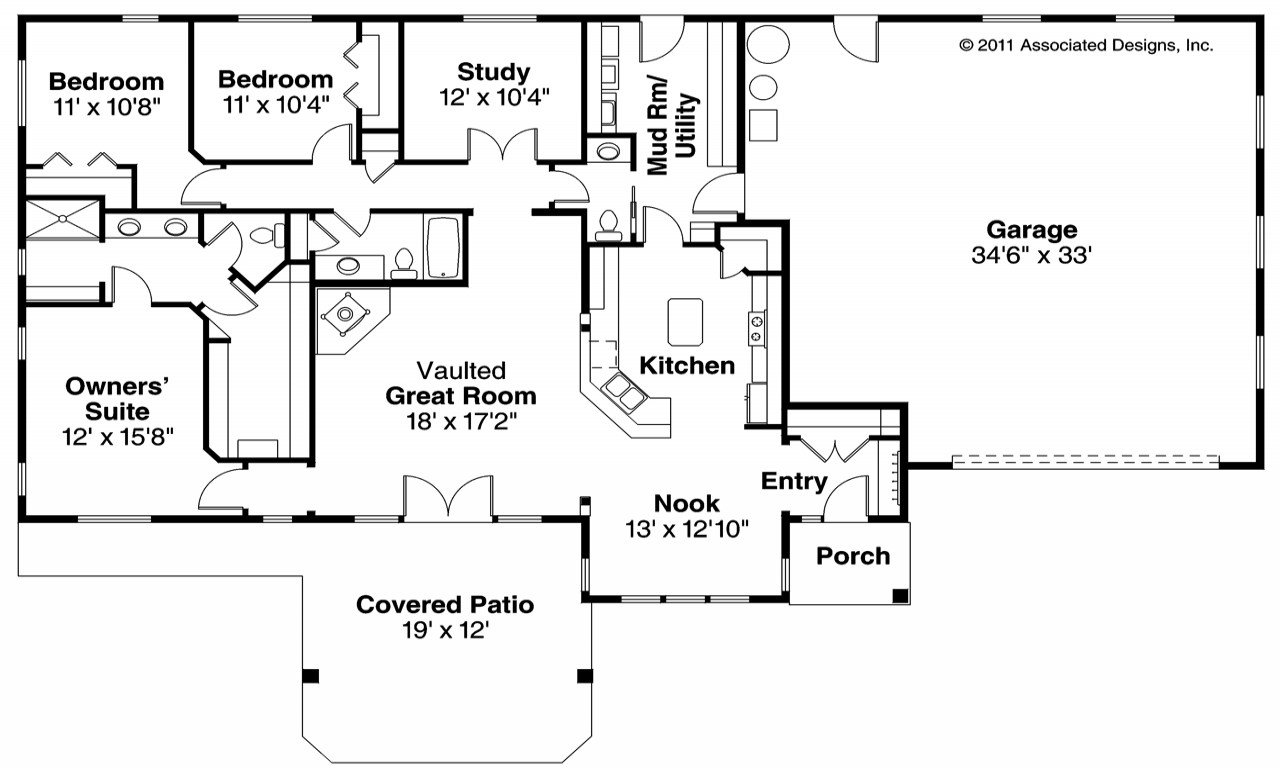 Best 4 Bedroom Ranch House Floor Plans 4 Bedroom Ranch Style With Pictures
