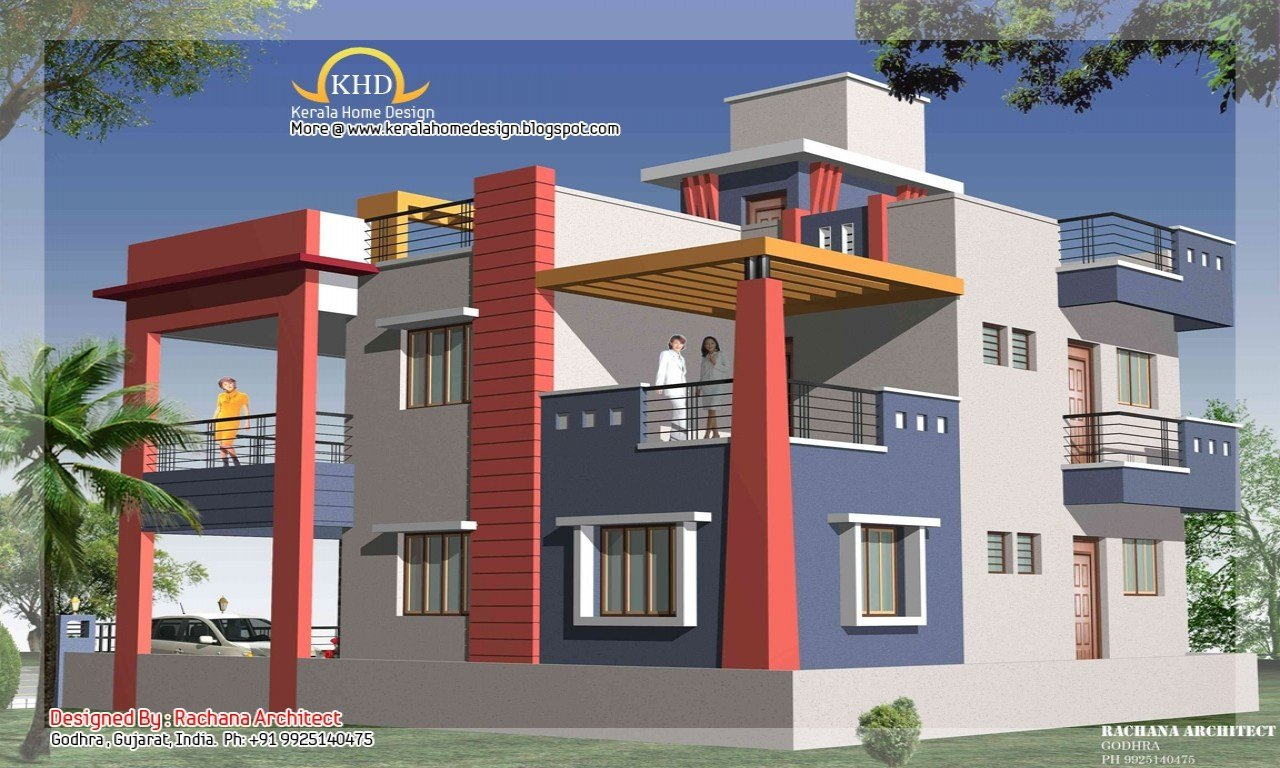 Best 2 Bedroom Duplex Apartment Duplex House Elevation Small With Pictures
