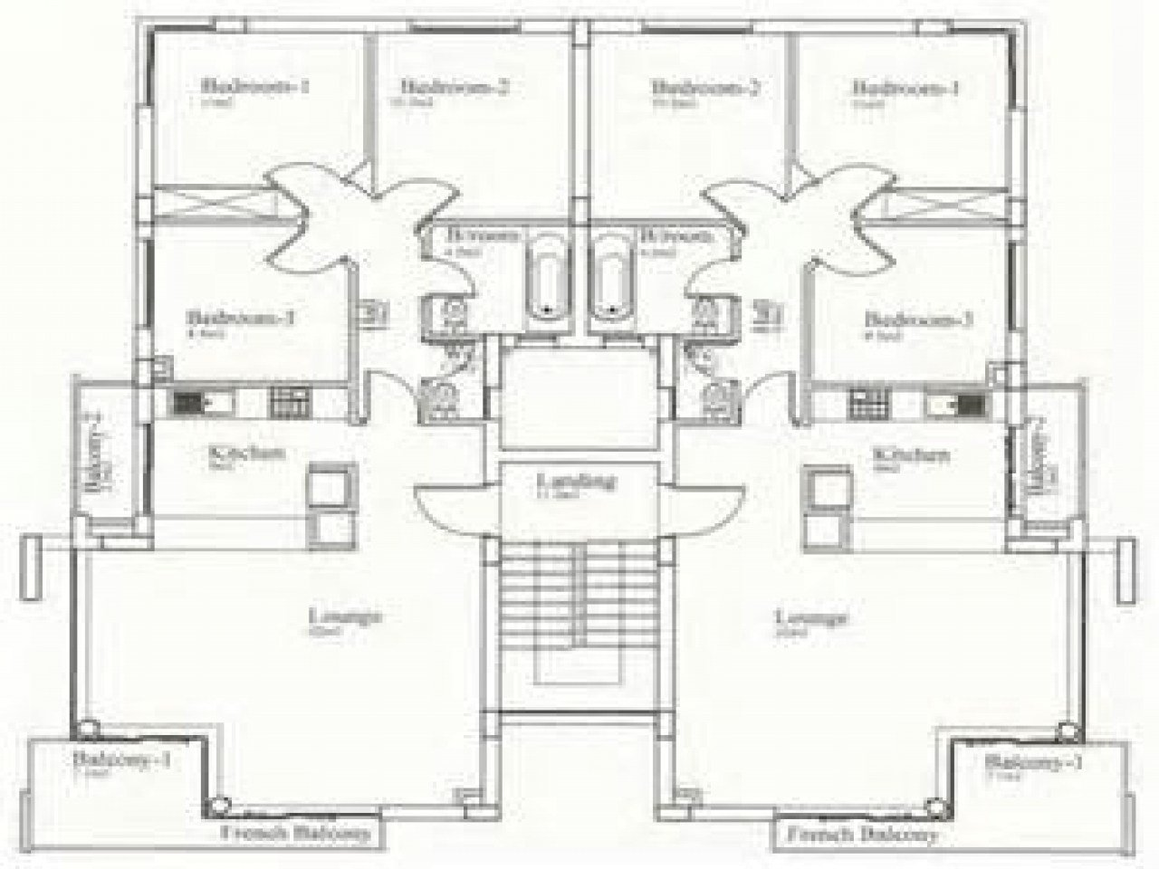 Best Residential House Plans 4 Bedrooms 4 Bedroom Bungalow With Pictures