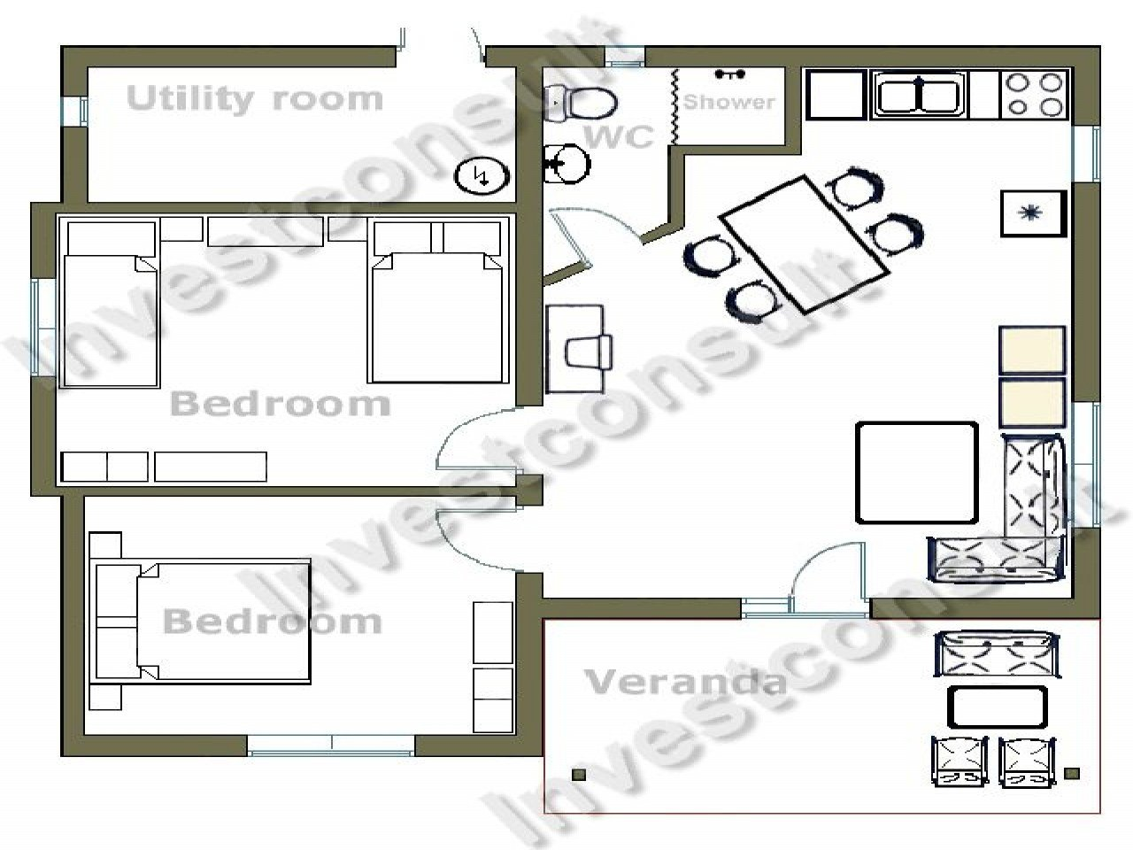 Best Small Two Bedroom House Floor Plans Small Two Bedroom Cottages 2 Floor Home Plans Mexzhouse Com With Pictures