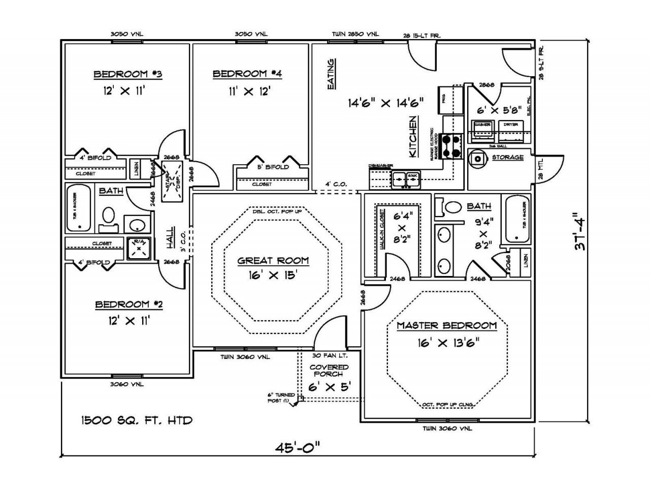Best 1500 Sq Ft 4 Bedroom House Plans Open Concept House Plans With Pictures