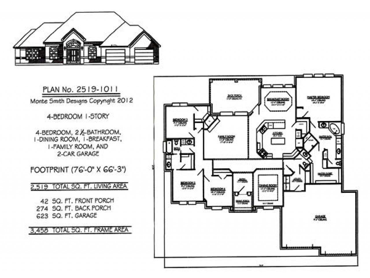 Best 1 Story House Plans With 4 Bedrooms One Story House Plans With Pictures
